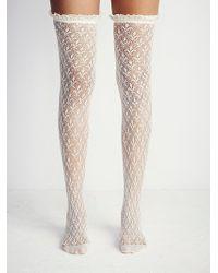 Free People Lacestation Otk Sock - White