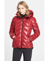 Moncler 'Badete' Hooded Down Puffer Coat red - Lyst