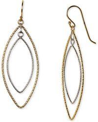 Argento Vivo Two Tone Double Drop Earrings - Lyst