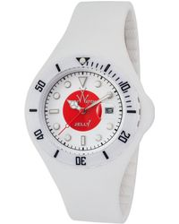 Toy Watch - Jelly White Silicone White And Red Dial White Plasteramic And Silicone - Lyst