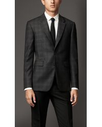 Burberry Modern Fit Virgin Wool Check Jacket - Lyst
