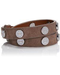 Tory Burch Doublewrap Logo Stud Bracelet - Lyst