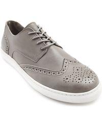 Menlook Label Grey Leather Sneakers - Lyst