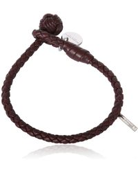 Bottega Veneta Woven Nappa Leather Bracelet - Lyst