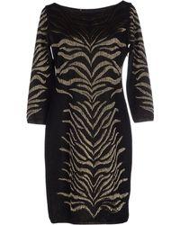 Roberto Cavalli Short Dress black - Lyst