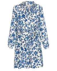 Paul Smith Scribble Jersey Shirt Dress blue - Lyst