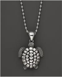 "Lagos - Rare Wonders Sea Turtle Pendant Necklace, 34"" - Lyst"