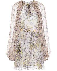 Giambattista Valli Floral Print Chiffon Dress - Lyst