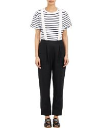 Band of Outsiders Suspender Wide-Leg Pants - Lyst