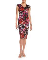 Maggy London - Floral Sheath Dress - Lyst