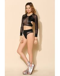 Minimale Animale - Mesh-Inset Bikini Bottom - Lyst