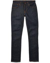 Nudie Jeans Jeans Original Dry Navy Grim Tim - Lyst