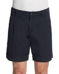 Dolce & Gabbana Cotton & Flax Shorts - Blue