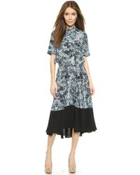 Rebecca Taylor Kiku Silk Skirt - Ocean Spray - Lyst