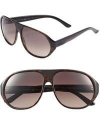 Gucci '1025' 60Mm Sunglasses - Dark Havana - Lyst