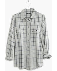 Madewell Flannel Boyshirt in Storm Plaid - Lyst