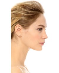 Shashi - Diamond Circle Earrings - Clear/gold - Lyst