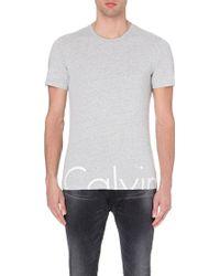 Calvin Klein Branded T-Shirt - For Men - Lyst