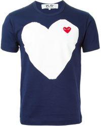 Comme Des Garçons Heart Print T-Shirt - Lyst