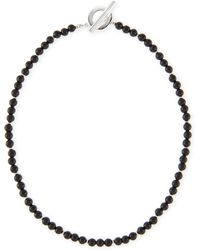 Gucci Mens Sterling Silver Boule Necklace - Lyst