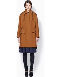 3.1 Phillip Lim Oversized Parka With Detachable Collar - Lyst