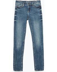 Zara Low Waist Jeans - Lyst