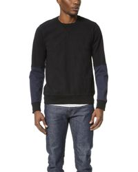Splendid Mills - Sueded Knit Pieced Long Sleeve Crew Tee - Lyst