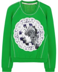 Emma Cook - Appliquãd Cotton-jersey and Silk Sweatshirt - Lyst