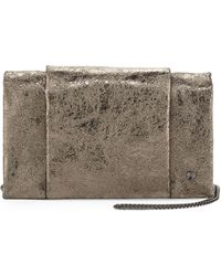 Halston Heritage Crinkled Metallic Crossbody Bag - Lyst