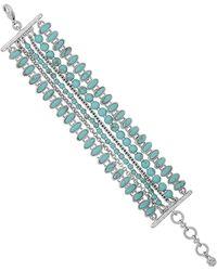 Lucky Brand Turquoise Multi-row Stretch Bracelet - Blue