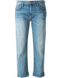 Current/Elliott The Boyfriend Low-Rise Stretch-Denim Jeans - Lyst