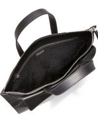 Prada | Nylon & Saffiano Leather Duffel | Lyst