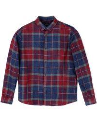 A.P.C. Long Sleeve Shirt purple - Lyst
