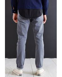 Kato - Storm Grey Slouch-fit Selvedge Jean - Lyst