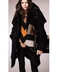 Burberry Oversize Wool Cashmere Duffle Coat - Lyst