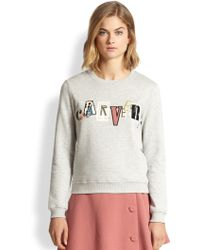 Carven Embroidered Logo Sweatshirt - Lyst