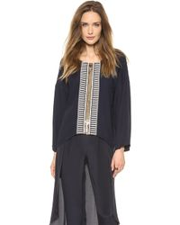 Sass & Bide On The Spot Embellished Blouse French Navy - Lyst