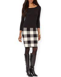 Ralph Lauren Lauren Dress  Cotton Jersey Sweater - Lyst