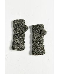 Urban Outfitters Fleece-lined Crochet Fingerless Glove - Lyst