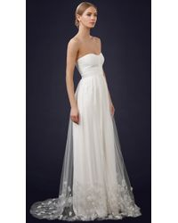 THEIA - Ava Embroidered Overskirt - Lyst