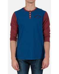 Volcom 'Jennings' Three Quarter Sleeve Henley blue - Lyst