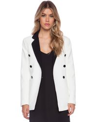 Blaque Label White Blazer - Lyst