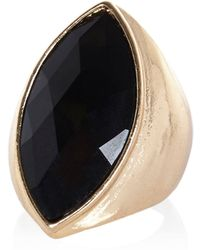 River Island  Facet Stone Statement Ring - Lyst