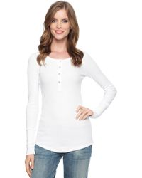 Splendid Thermal Button Henley - Lyst