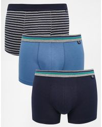 Esprit - 3 Pack Trunks With Stripe - Lyst