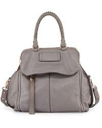 Kooba Angela Leather Satchel Bag Cement Gray - Lyst