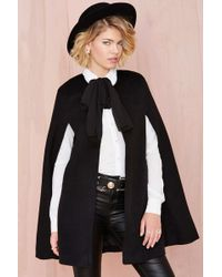 Nasty Gal Black Sophie Cape - Lyst
