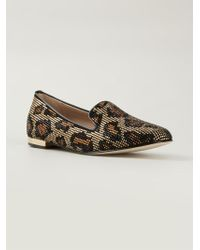 DSquared² Leopard Slippers - Black