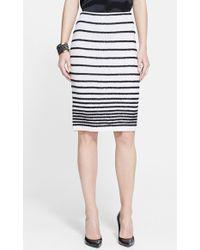 St. John Eyelash Degrade Stripe Knit Skirt - Lyst