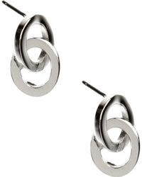 Anne Klein - Silver Tone Double Drop Earrings - Lyst